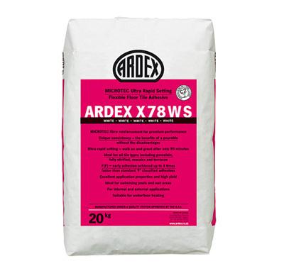 Ardex Microtec Ultra Rapid Set Flexible White Floor Tile Adhesive 20kg