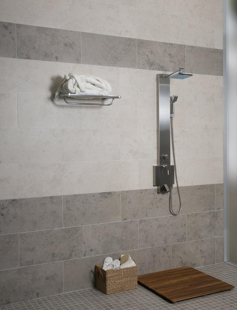 Azulev Fossil Stone Gris Porcelain Wall Floor Tiles Xmm - Carrara gris porcelain tile