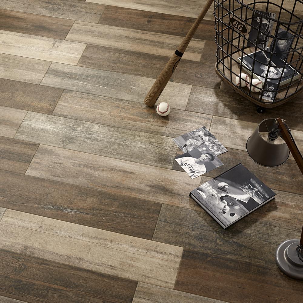 Woodland Series Oak Wood Effect Porcelain Floor Tiles 218x840mm