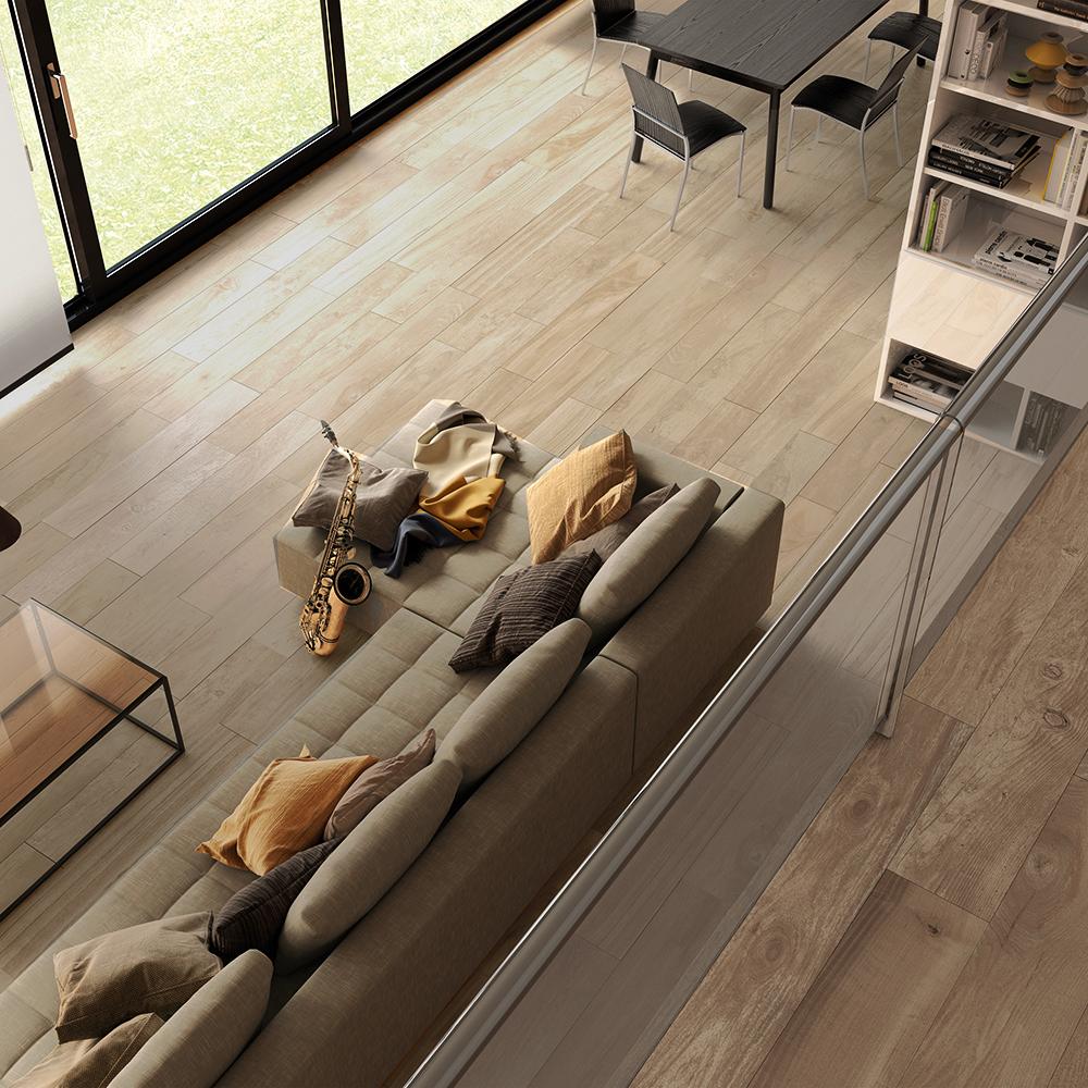 Roca Borneo Taupe Wood Effect Porcelain Floor Tiles 1010x162mm