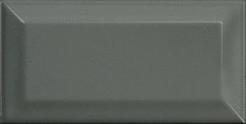 mini metro series dark grey eq 0 bevelled gloss ceramic wall tile