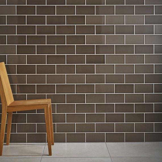 Johnson Savoy Brick Caraway Gloss Ceramic Wall Tile